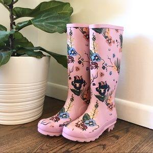 Francesca's floral Tory rainboot